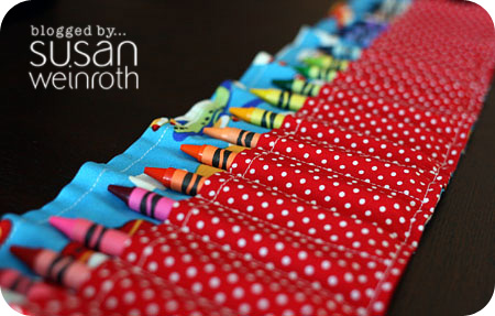 Blog crayon roll up - detail 1