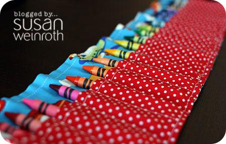 Blog crayon roll up - detail 1