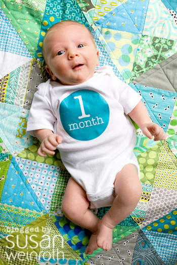 Blog - 1 month onesie