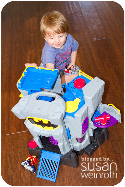 Blog - noah with batman house