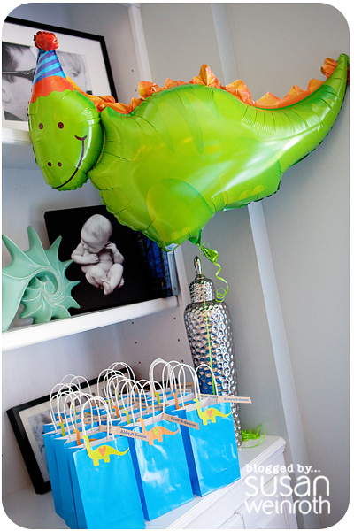 Noah's DINO-ROAR Party - favor bags