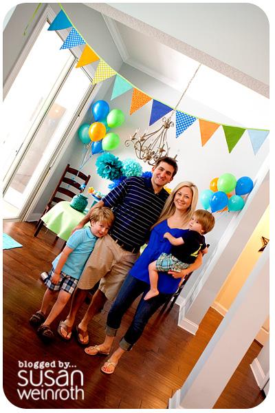Noah's DINO-ROAR Party - family pic2