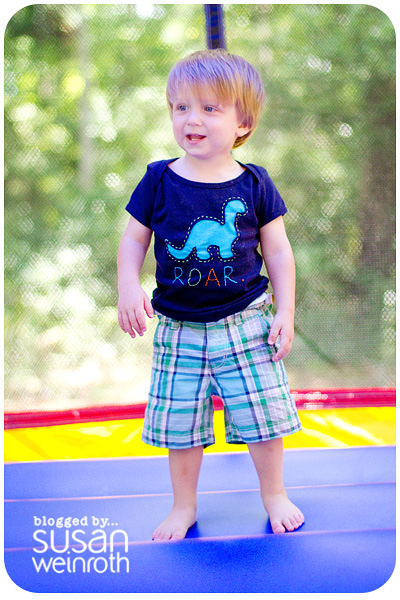 Noah's DINO-ROAR Party - bounce