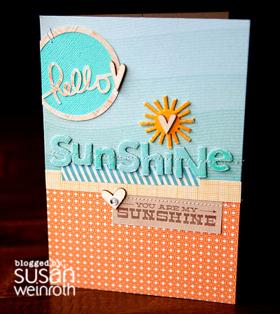 Blog - hello sunshine card - by susan weinroth