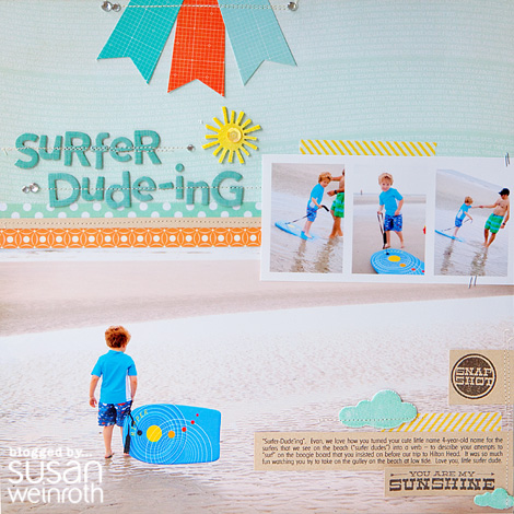 Blog - surfer duding layout - by susan weinroth