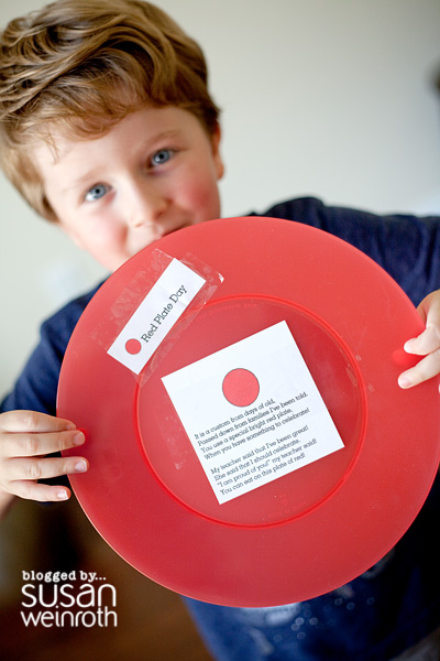 Blog - red plate