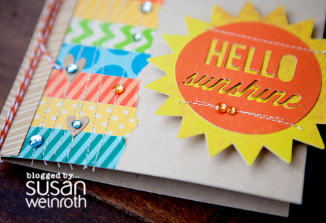 Blog - Hello Sunshine Card - DETAIL - Susan Weinroth