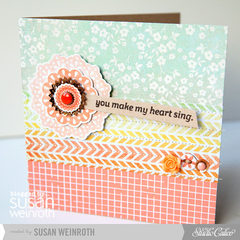 Blog - you make my heart sing card - susan weinroth