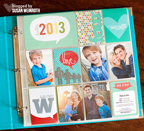 2013 Project life Cover Page - Susan Weinroth