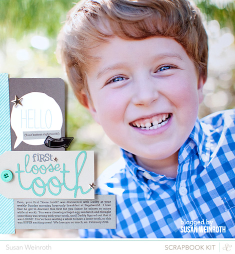 Blog - first loose tooth - susan weinroth