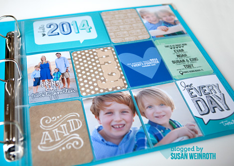 2014 project life cover page - 3 - Susan Weinroth