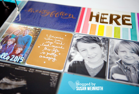 Blog - project life 2015 cover page detail susan weinroth