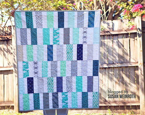 Scrappy Seaside Quilt - by Susan Weinroth
