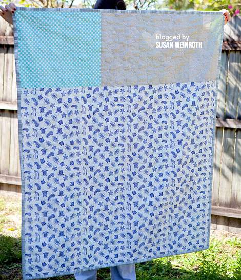 Scrappy Seaside Quilt - BACKING - by Susan Weinroth
