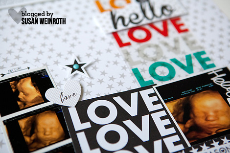 Blog - susan weinroth - hello love layout - DETAIL