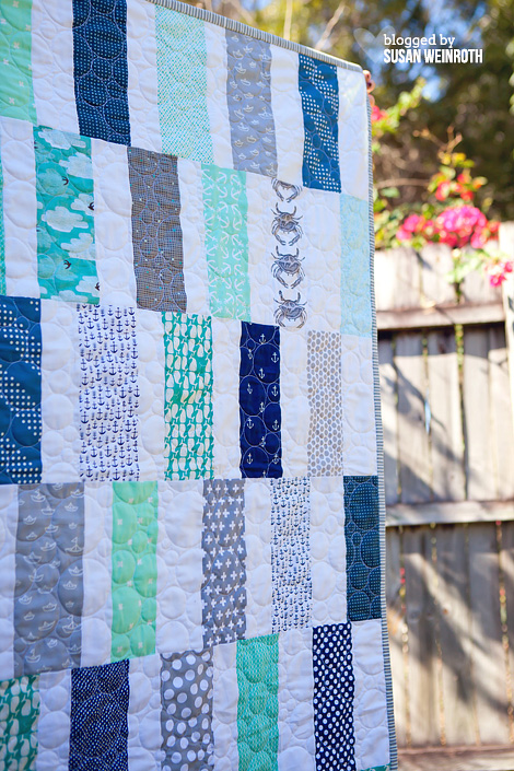 Scrappy Seaside Quilt - DETAIL - by Susan Weinroth