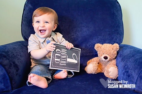 Blog - 9 months blue chair